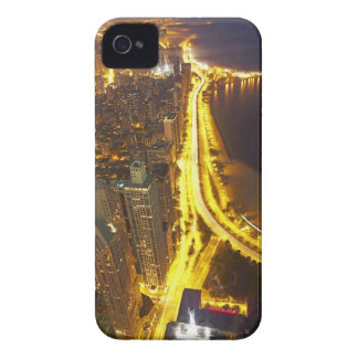 USA, Illinois, aerial view of Chicago at dusk iPhone 4 Case