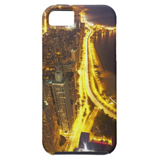 USA, Illinois, aerial view of Chicago at dusk iPhone SE/5/5s Case
