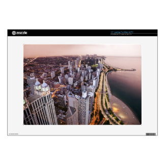 USA, Illinois, Chicago, Aerial view of Lake Laptop Decal