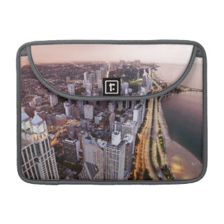 USA, Illinois, Chicago, Aerial view of Lake MacBook Pro Sleeve