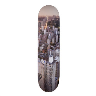 USA, Illinois, Chicago, Aerial view of Lake Skate Board