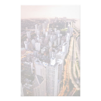 USA, Illinois, Chicago, Aerial view of Lake Stationery