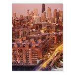 USA, Illinois, Chicago, Chicago River 2 Postcard