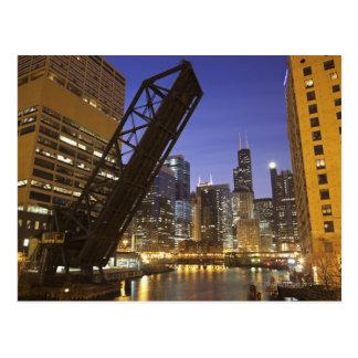 USA, Illinois, Chicago, Chicago River Postcard