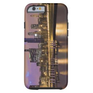 USA, Illinois, Chicago, City skyline and marina Tough iPhone 6 Case