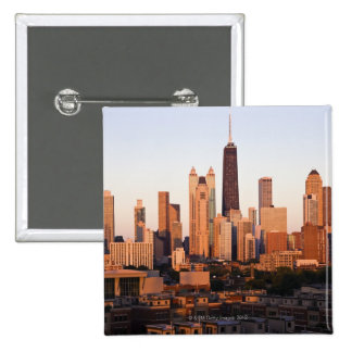 USA, Illinois, Chicago, City skyline at sunset Pin