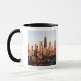 USA, Illinois, Chicago, City skyline at sunset Mug
