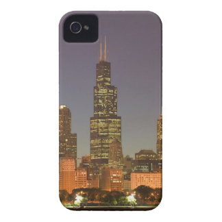 USA, Illinois, Chicago: City Skyline / Evening Case-Mate iPhone 4 Cases