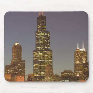 USA, Illinois, Chicago: City Skyline / Evening Mouse Pad