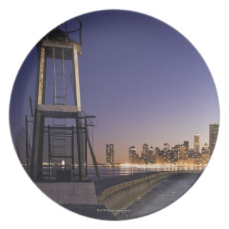 USA, Illinois, Chicago, City skyline from Lake 2 Melamine Plate