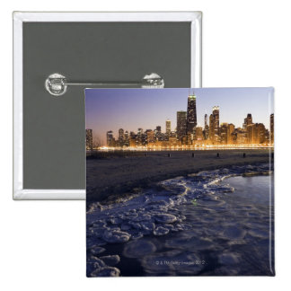 USA, Illinois, Chicago, City skyline from Lake Button