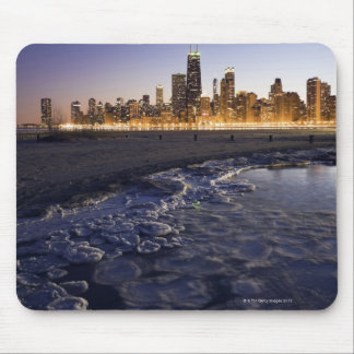 USA, Illinois, Chicago, City skyline from Lake Mouse Pad