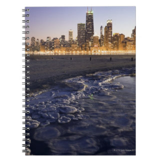 USA, Illinois, Chicago, City skyline from Lake Notebook