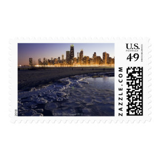 USA, Illinois, Chicago, City skyline from Lake Postage