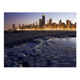 USA, Illinois, Chicago, City skyline from Lake Postcard