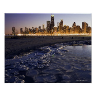 USA, Illinois, Chicago, City skyline from Lake Poster