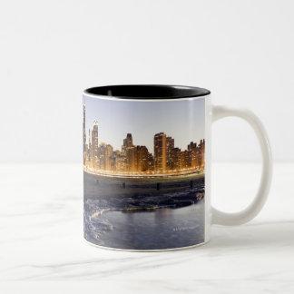 USA, Illinois, Chicago, City skyline from Lake Two-Tone Coffee Mug