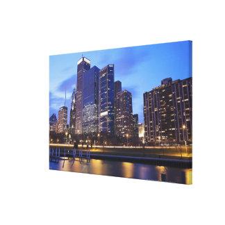 USA, Illinois, Chicago, City skyline of Randolph Canvas Print