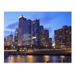USA, Illinois, Chicago, City skyline of Randolph Postcard