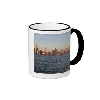 USA, Illinois, Chicago, City skyline over Lake 10 Coffee Mug