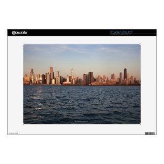 "USA, Illinois, Chicago, City skyline over Lake 15"" Laptop Skins"