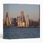USA, Illinois, Chicago, City skyline over Lake 2 3 Ring Binder