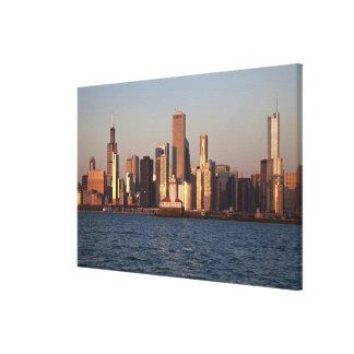 USA, Illinois, Chicago, City skyline over Lake 2 Canvas Print