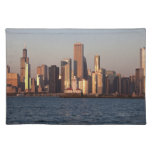 USA, Illinois, Chicago, City skyline over Lake 2 Cloth Placemat