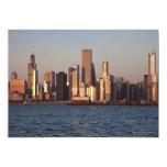 USA, Illinois, Chicago, City skyline over Lake 2 Invitation