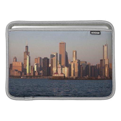 USA, Illinois, Chicago, City skyline over Lake 2 MacBook Air Sleeves