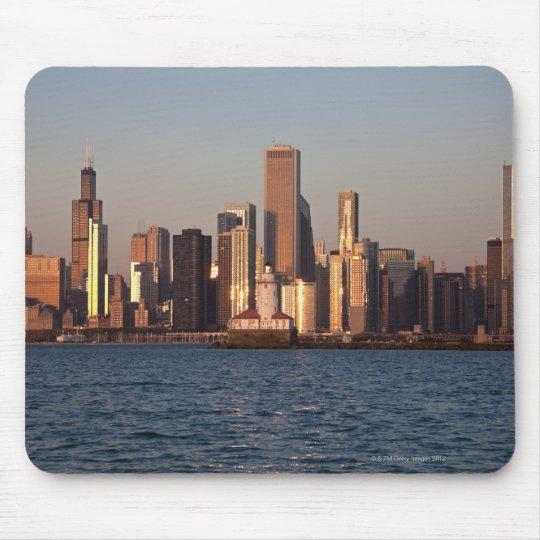 USA, Illinois, Chicago, City skyline over Lake 2 Mouse Pad