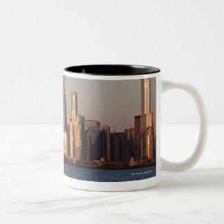 USA, Illinois, Chicago, City skyline over Lake 2 Mugs