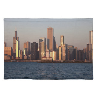 USA, Illinois, Chicago, City skyline over Lake 2 Placemat