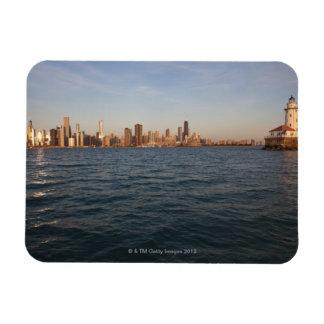 USA, Illinois, Chicago, City skyline over Lake 3 Magnet