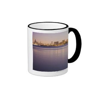 USA, Illinois, Chicago, City skyline over Lake 3 Coffee Mugs