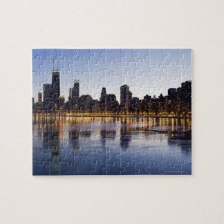 USA, Illinois, Chicago, City skyline over Lake 6 Jigsaw Puzzle