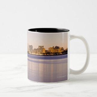 USA, Illinois, Chicago, City skyline over Lake 8 Coffee Mugs