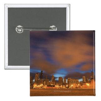 USA, Illinois, Chicago, City skyline over Lake Button