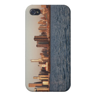 USA, Illinois, Chicago, City skyline over Lake iPhone 4/4S Cases