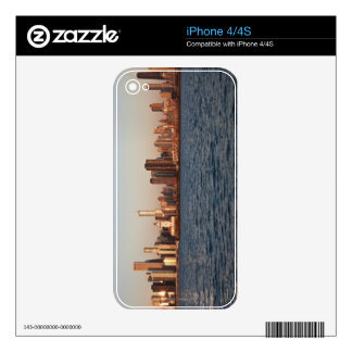 USA, Illinois, Chicago, City skyline over Lake iPhone 4S Decals