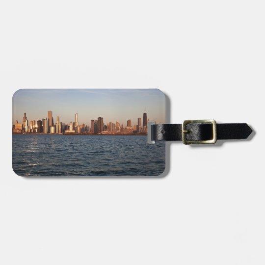 USA, Illinois, Chicago, City skyline over Lake Luggage Tag