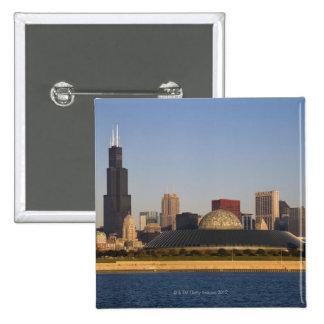USA, Illinois, Chicago, City skyline with Adler Button