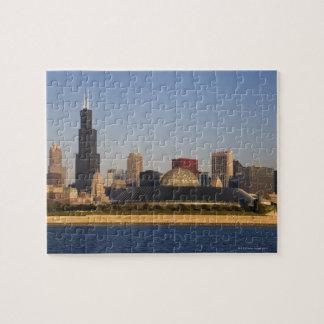 USA, Illinois, Chicago, City skyline with Adler Jigsaw Puzzle