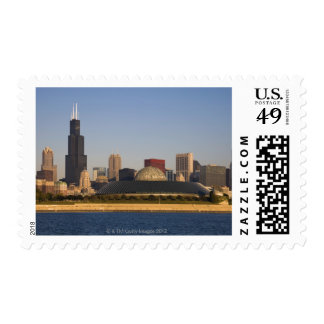 USA, Illinois, Chicago, City skyline with Adler Postage