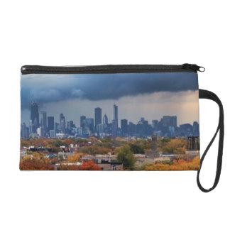 USA, Illinois, Chicago, cityscape Wristlet Clutches