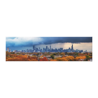 USA, Illinois, Chicago, cityscape Gallery Wrapped Canvas