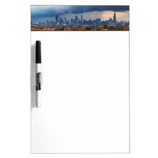 USA, Illinois, Chicago, cityscape Dry Erase Board