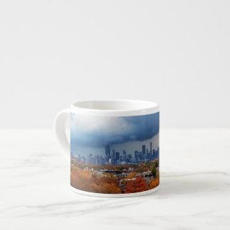 USA, Illinois, Chicago, cityscape Espresso Cup