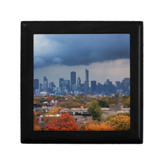 USA, Illinois, Chicago, cityscape Keepsake Box