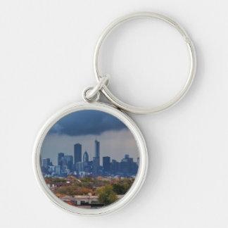USA, Illinois, Chicago, cityscape Keychain